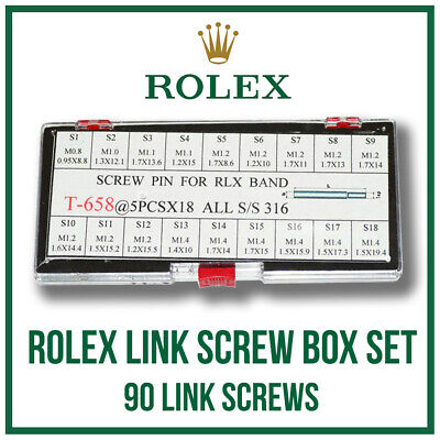 $ CDN56.14 • Buy ♛ ♛ Link Screw Box Set 90 Pieces For ROLEX Submariner, GMT, Datejust Etc. ♛ ♛