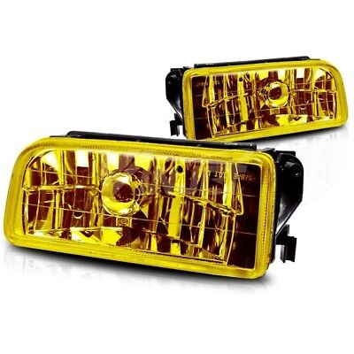 $50.46 • Buy For 1992-1998 BMW E36 M3 Chrome Fog Lights Replacement Lamps Yellow Lens