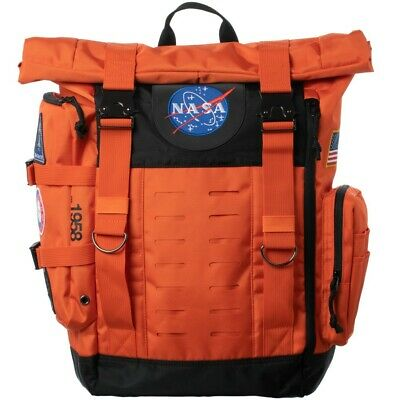 $69.95 • Buy NASA Orange Flight Suit Rolltop Backpack With Patches