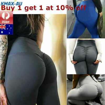AU14.95 • Buy Womens Yoga Pants Leggings Push Up Fitness Gym Sports Scrunch Stretch Trousers