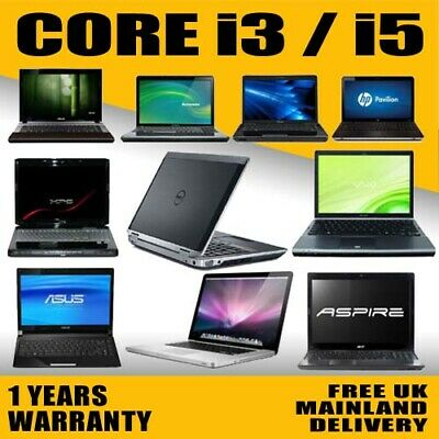 FAST CHEAP INTEL CORE I3/i5/i7 LAPTOP WINDOWS 10 250GB/120GB SSD 4GB/8GBRAM WIFI • 164.99£