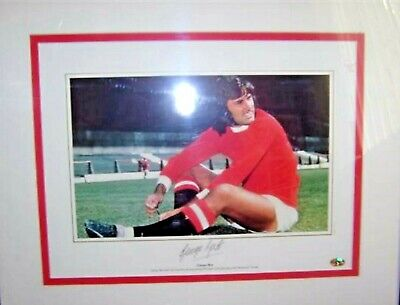 071 -  Signed George Best Framed Picture (best Sitting) • 300£