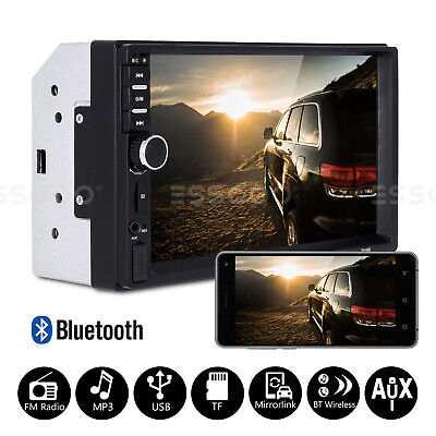 AU44.78 • Buy 2 DIN 7  Car Bluetooth Stereo Audio MP5 Player Radio USB Touchscreen Mirrorlink