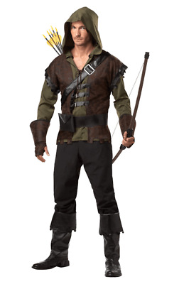 Mens Robin Hood Costume Fairy Tale Knight Medieval Game Of Thrones Fancy Dress • 38.53£