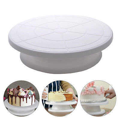 28cm Rotating Cake Icing Deocrating Revolving Kitchen Display Stand Turntable • 5.75£