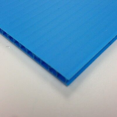 £129.99 • Buy 4mm Blue Correx Fluted Corrugated Plastic Sheet 9 SIZES TO CHOOSE
