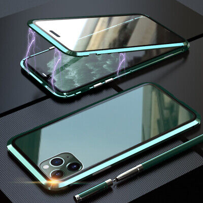 $ CDN13.74 • Buy Double Side Tempered Glass Phone Cover 360° Magnetic Adsorption Metal Frame Case