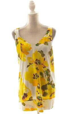 $ CDN19.96 • Buy Anthropologie Postmark Yellow Floral Tank Top Size XL