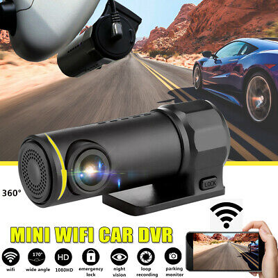 AU36.99 • Buy 1080P WiFi Car DVR 170° FHD Lens Dash Cam Video Recorder Camera Cam Night Vision