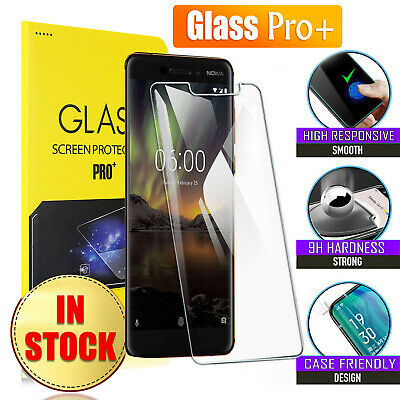 AU5.49 • Buy For Nokia 6 6.1 7.1 7 Plus 8 8.1 Sirocco Tempered Glass Screen Protector Guard