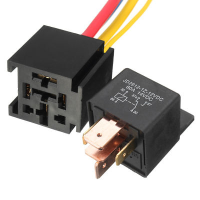 $ CDN3.21 • Buy 5 Pin Wires Cable Relay Socket Harness Connector DC 12V For Car Auto JD2912