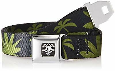 $20 • Buy Buckle-Down Men's Seatbelt Belt Palm Trees Kids, Silhouette C/Blue Black/Oliv...