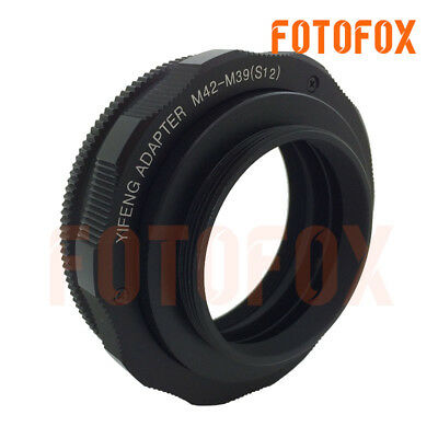$46.88 • Buy M42-M39 Brass M42 To M39/L39 12-17mm Adjustable Focusing Helicoid Adapter Macro