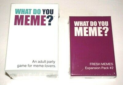 AU62.60 • Buy What Do You Meme? & What Do You Meme? Expansion Pack #2 Adult Party Game Bundle