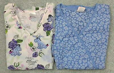 $24.99 • Buy Disney, Barco Lot (2) Women's XS Extra Small Scrub Tops
