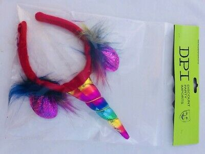 AU10.95 • Buy Rainbow Unicorn Headband