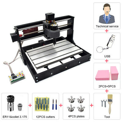 3 Axis CNC Router Offline Control Laser Engraving Spindle Carve Milllng Machine • 39.99£