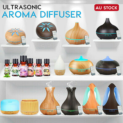 AU13.96 • Buy Aroma Aromatherapy Diffuser LED Essential Oil Ultrasonic Air Humidifier Purifier
