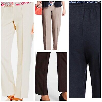 £8.09 • Buy Ladies M&s Classic Various Colours Straight Leg Elastic Waist Pull On Trousers