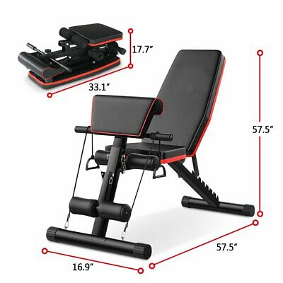 Adjustable Weight Bench Fitness Home Training Gym Utility Exercise Bench Press • 59.75£
