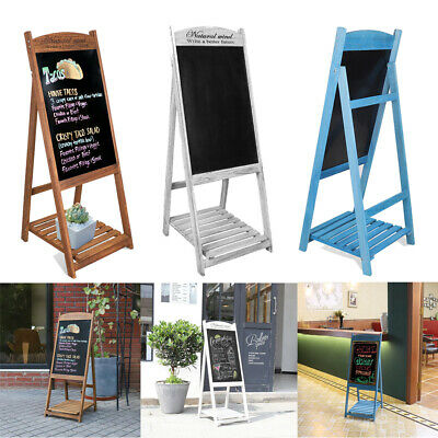 £26.94 • Buy Magnetic A-Board Frame Chalkboard Pavement Sign Standing Poster Display Floor