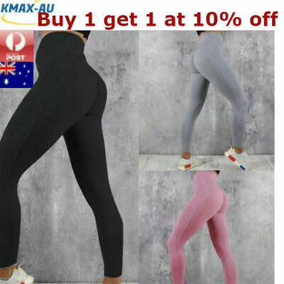 AU14.95 • Buy Womens Yoga Pants Leggings High Waist Push Up Fitness Gym Sports Scrunch Trouser