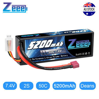AU35.99 • Buy Zeee 5200mAh 50C 2S 7.4V Lipo Battery Hardcase Deans Plug For RC Car Buggy Truck