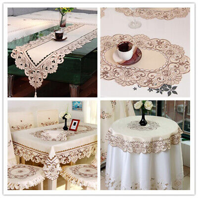 AU13.56 • Buy Embroidered Table Runner Dining Table Cloth Cover Mats Wedding Party Decor Satin