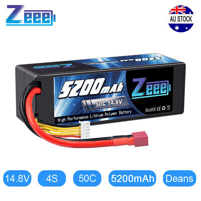 AU68.99 • Buy 5200mAh 4S 14.8V 50C Deans Plug LiPo Battery For RC Car Helicopter Boat Truck