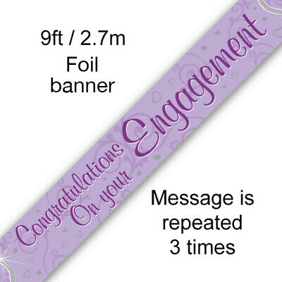 Just Married Mr And Mrs Party Foil Banner Bunting Decorations Banners Partyware • 1.89£