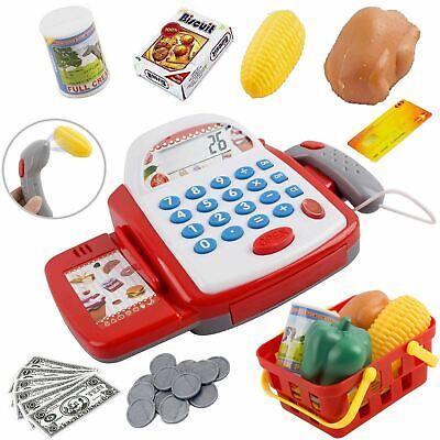 £11.99 • Buy Kids Electronic Cash Register Toy Working Scan Till Play Food Shopping Basket
