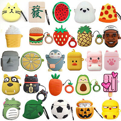 AU7.76 • Buy 3D Animals Fruit Silicone Airpods Case Cover For Apple Airpods 1/2 Charging Box
