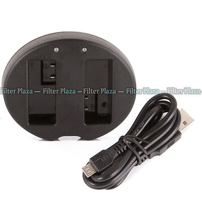 Dual Battery Charger For Canon EOS 550D 600D 650D 700D T5i T4i T2i LP-E8 LC-E8C • 4.99£
