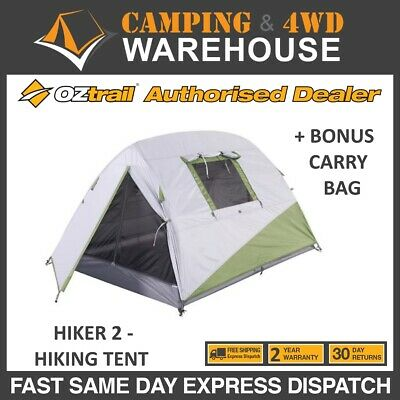 AU99.99 • Buy OZTRAIL HIKER 2 -  HIKING  TENT  SLEEPS 2 Man Person Tent  NEW