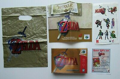 $1424.95 • Buy Gold Zelda Ocarina If Time Game Nintendo 64 N64 Tattoos Complete In Box CIB #5