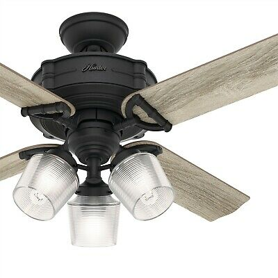 $124.99 • Buy Hunter Fan 44 In. Traditional Natural Iron Ceiling Fan W/ Light & Remote Control