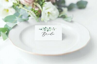 £6.50 • Buy 10 X Personalised 'Carey' Name Place Settings/cards