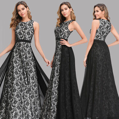 $39.59 • Buy Ever-pretty US Formal Lace Black Dresses Evening Cocktail Party Ball Prom Gowns