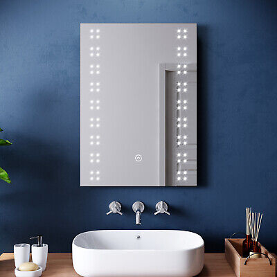 Modern Bathroom Mirror/Cabinet LED Illuminated Wall Mounted Button Switch IP44 • 47.99£