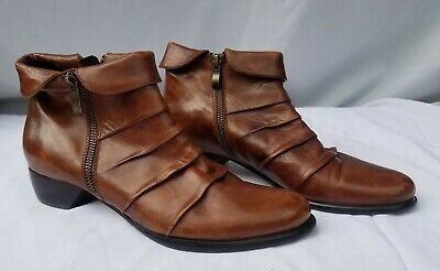 $87.99 • Buy 6.5 Narrow/37.5 Everybody By B.Z. MODA Ankle Boots Brown Nut Noce Glove Leather