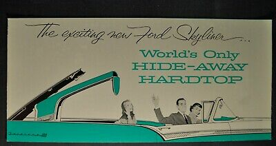 $23.95 • Buy 1957 Ford Skyliner Retractable Fairlane Brochure Excellent Orig 57 Not A Reprint