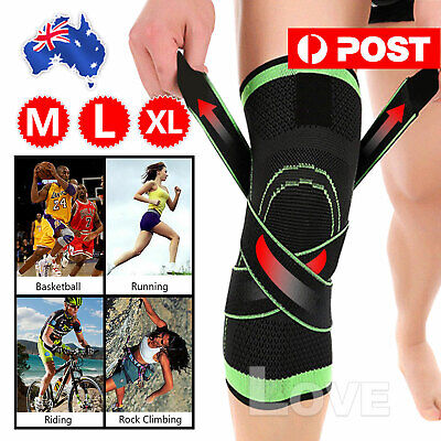 AU6.95 • Buy Weaving 3D Knee Brace Breathable Sleeve Support Running Jogging Joint Pain