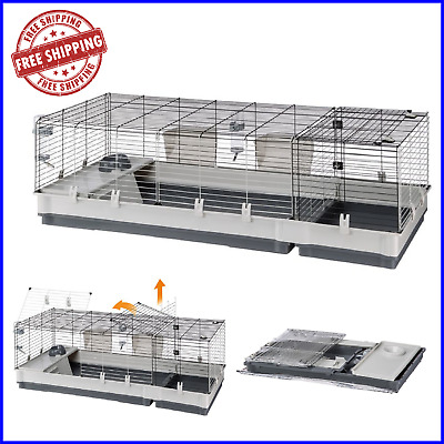NEW Small & Large Pet Cage Plaza Guinea Pig Rabbit Indoor Animal House Nesting • 72.65£