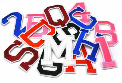 £1.89 • Buy LARGE Colour Letter / Number Patch Patches Iron On /Sew On Alphabet Embroidery