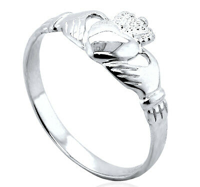 Sterling Silver Claddagh Ring Maids Ladies Gents Cladda Heart Hands Large Sizes • 11.99£
