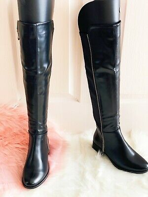 £19.99 • Buy  Womens Ladies Studded High Thigh Stretch Over The Knee Low Flat Heel Boots Size