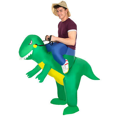 £21.95 • Buy Inflatable T Rex Ride On Costume Adult Funny Dinosaur Fancy Dress Stag Party NEW