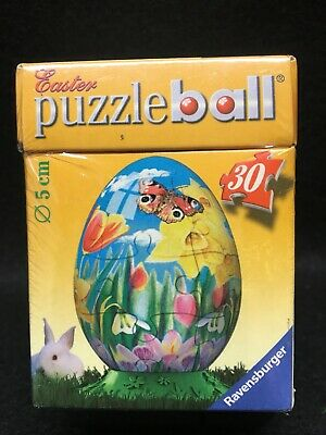 Ravensburger Puzzle Ball Easter Egg Puzzle Tulips Butterfly *NEW* • 9$