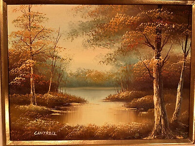 $ CDN228.60 • Buy Cantrell Original Oil Signed Framed 18x22 Great Cantrell Example Great Low Price