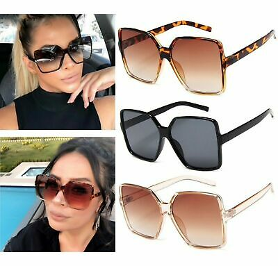 £4.99 • Buy Ladies Oversized Square Sunglasses Women Double Colors Frame Gradient Shades